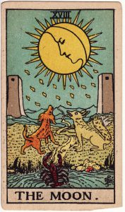 Tarot Moon Card